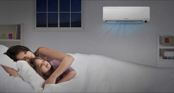 Функция комфортный сон в кондиционерах Samsung