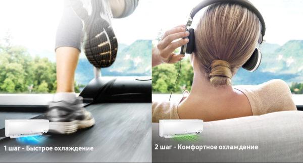 НИзкий уровень шума в кондиционерах Samsung