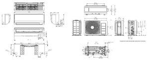Габариты инверторного кондиционера Samsung Boracay