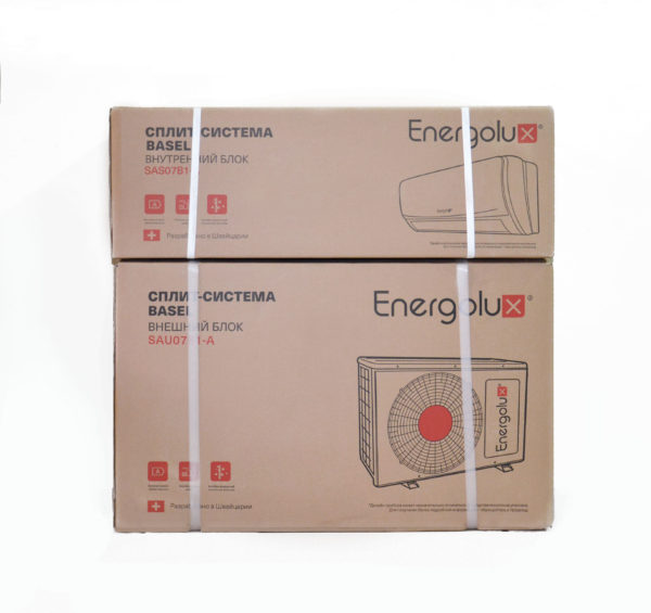 Упаковка кондиционера Energolux серии Basel
