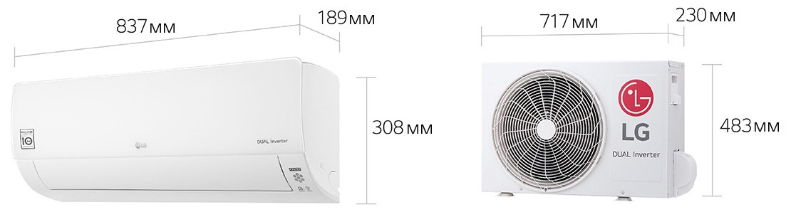 LG ProCool DUAL inverter B09TS.NSJ/B09TS.UA3 (до 30 м2)