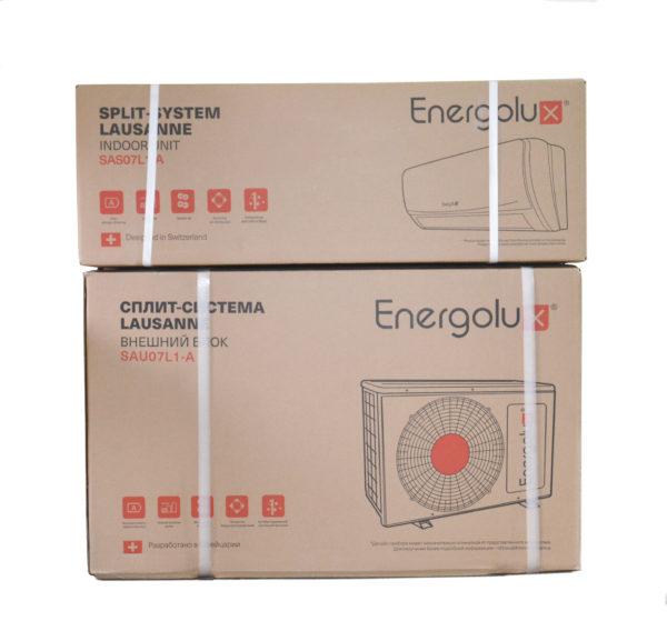 Упаковка кондиционера Energolux серии Lausanne