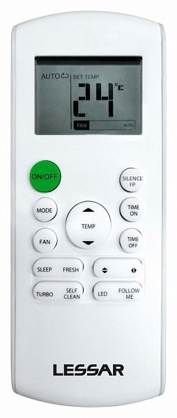 Пульт для кондиционера Внутренний блок кондиционера Наружный блок кондиционера Lessar cool+