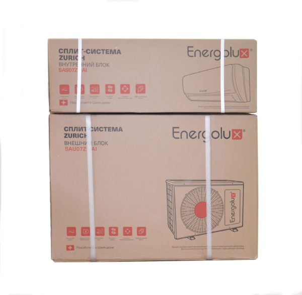 Упаковка кондиционера Energolux серии zurich